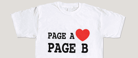 Page A loves Page B